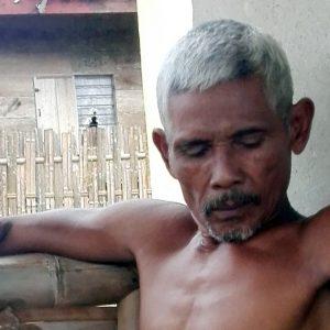 Sauji (63) saat dikonfirmasi (Foto : Faisol)