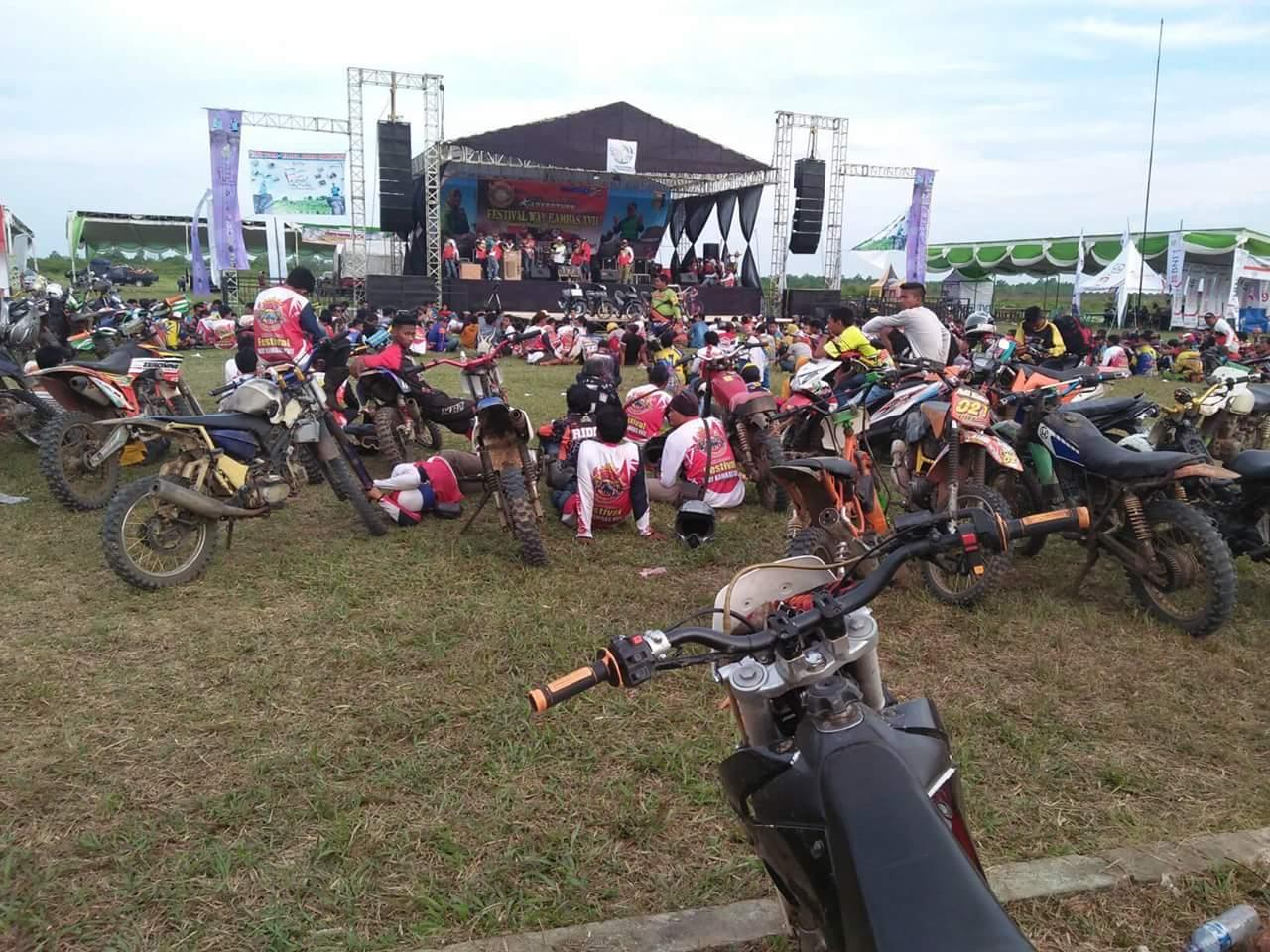Di Cuekin Panitia, Petugas Pengamanan Tinggalkan Lokasi Festival Way Kambas