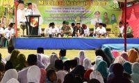 Bupati Lampura Hadiri Pengajian Muslimat NU Gedung Raja