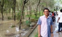 Akses Jalan Menuju Mulya Asri Tubaba Terputus Akibat Banjir