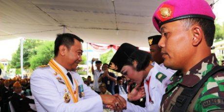 Bupati Agung Ramah Tamah Bersama Veteran, Paskibra, TNI, Polri serta Masyarakat