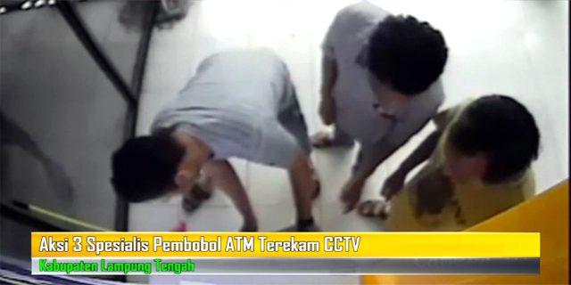 Aksi 3 Spesialis Tukang Bobol ATM Terekam CCTV