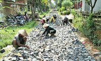 Desa Donomulyo Bangun Gorong-Gorong, Dengan Dana Desa