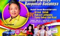 Masyarakat Bandar Lampung Senam Massal Berhadiah Mobil