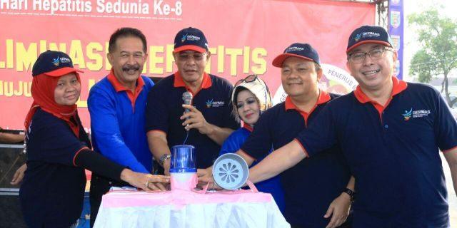 Hari Hepatitis Sedunia, Ribuan Masyarakat Antusias Ikuti Senam Germas di Way Halim