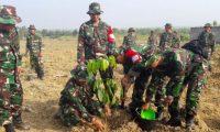 TNI Melakukan Penghijauan di Lokasi Bongkar Ranpur