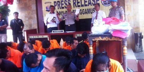Januari – Agustus 2017, Polres Tanggamus Berhasil Ungkap 31 Kasus