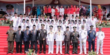 Gubernur Ridho Inspektur Upacara HUT ke-72 RI Provinsi Lampung