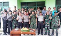 Sambangi Koramil, Polres Mesuji Ucapkan HUT TNI Ke 72