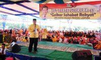 Arinal Memperingati HUT Golkar ke-53 Bersama Ribuan Rakyat Lampura
