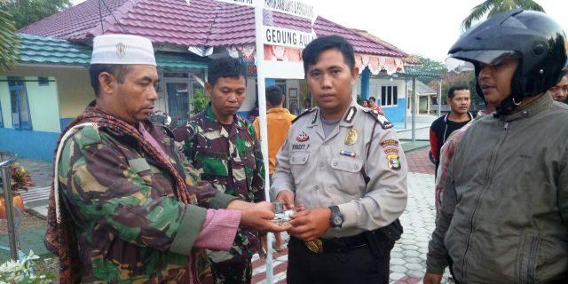 Serda Sugiyanto Anggota Kodim 0427 Way Kanan Berhasil Amankan Pelaku Curanmor