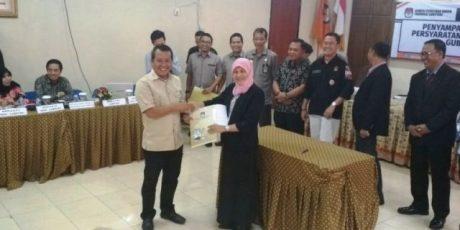 Berkas Administrasi Bacagub Arinal Dinyatakan Lengkap Oleh KPU