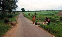 Portal Umbul Tengah Desa Kedaton Lamsel Diperbaiki Petugas Dinas Perumahan dan Pemukiman