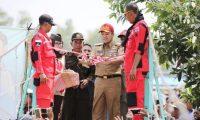 Ridho Resmikan Jembatan Gantung di Way Jepara Lampung Timur