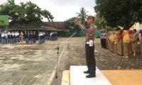 Satlantas Polres Lampung Timur, Gelar Operasi Keselamatan Krakatau 2018 Di Sekolah-Sekolah