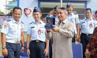 Pjs. Gubernur Didik Kunker ke Pangkalan Lanud Pangeran M. Bunyamin
