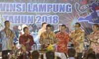 Malam Puncak HUT Lampung ke-54 Dirayakan dengan Syukuran dan Pesta Rakyat
