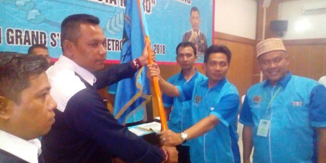 Waka Bidang Organisasi PWI Lampung Nizwar Kukuhkan Pengurus PWI Kota Metro