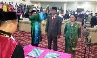 Winarti dan Hendriwansyah Hadiri Pelantikan Ketua dan Wakil Ketua DPRD Tuba Periode 2017 – 2019.