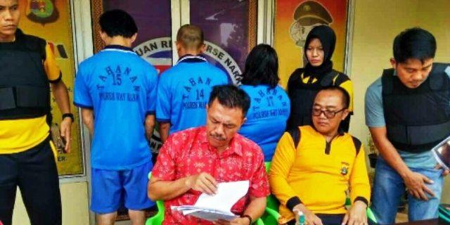 Satresnarkoba Polres Waykanan Tangkap Pengedar Sabu