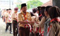 Pramuka Lampung Tengah Bantu Kelancaran Arus Mudik