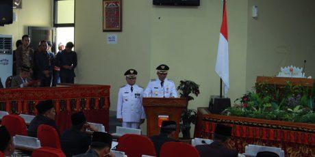Bupati Parosil Mabsus Sampaikan Pidato Perdana di DPRD Lambar
