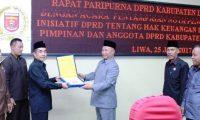 DPRD Lambar Sahkan Perda Hak Keuangan dan Administratif DPRD