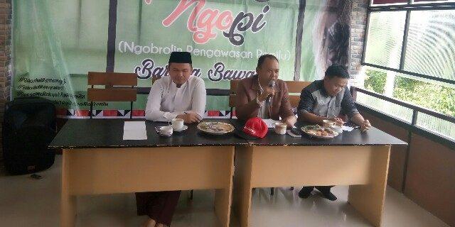 Panwaslu Lambar Gelar Ngopi Bareng Bawaslu Provinsi Lampung