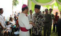 Bupati Lampura Hadiri Perayaan HUT Gereja Desa Sumber Arum