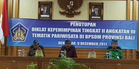 Kepala Bappeda Tanggamus Lulus Diklat PIM II Bali Tematik Pariwisata